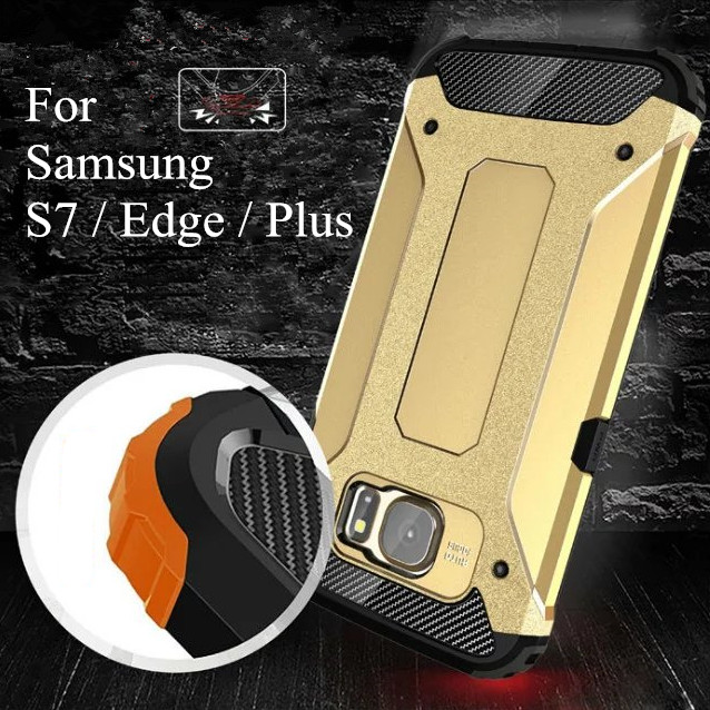 For Samsung Galaxy S7 / S7 Edge / S7 Plus Heavy Hockproof Hybrid Armor Cases With Dual Layer Cell Phone Back Cover Case Coque