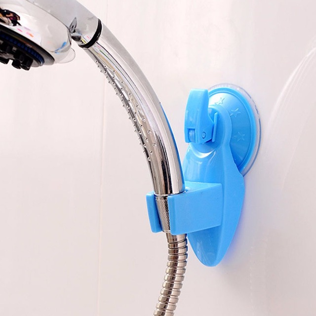 Universal Bathroom Suction Cup Powerful Suction Shower Head Holder Bracket  Bath Movable Bracket Shower Room Tools Color Random