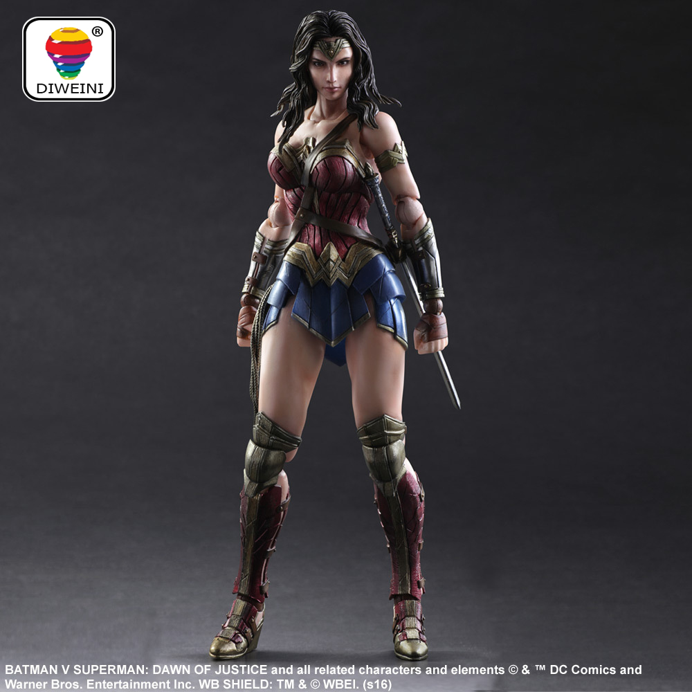 DIWEINI Superman Wonder Woman Play Arts Kai figure 1/6 scale painted variant Doll Anime PVC Action Figure Collectible Model Toy bluetooth music headphone wireless headset stereo running earphone with mic for iphone 7 samsung xiaomi pc sport bass earphones