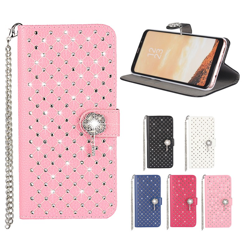 Wallet Cases For Samsung Galaxy S8 Plus S8plus Flip Case Cover Shining  Diamond Leather Bags Etui Capinha Coque Phone Accessory 012c11c2bd79