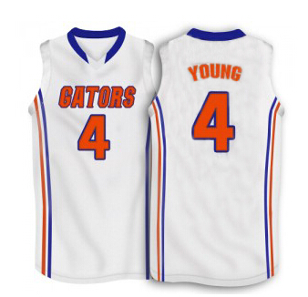 new product b0eca bc023 patric young jersey #4 florida gators blue white throwback ...