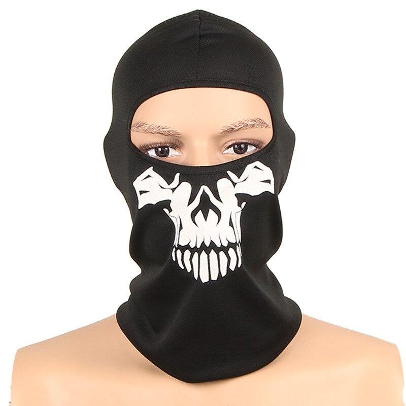 2019 Schädel Skeleton Maske Außen Motorrad Fahrrad Multi Funktion Headwear Hut Schal Half Face Ski Masken