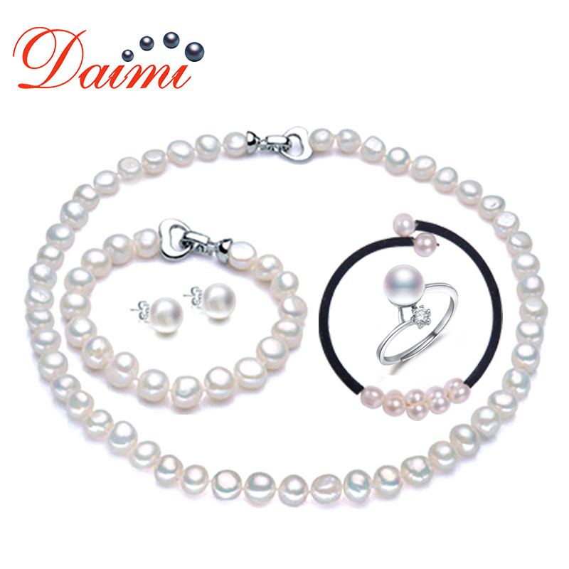 PRESALE DAIMI Incredible Pearl Sets 5 Items One Suit, Necklace Bracelet Bangle Ring Earrings for Woman Christmas Gift Value GiftPRESALE DAIMI Incredible Pearl Sets 5 Items One Suit, Necklace Bracelet Bangle Ring Earrings for Woman Christmas Gift Value Gift