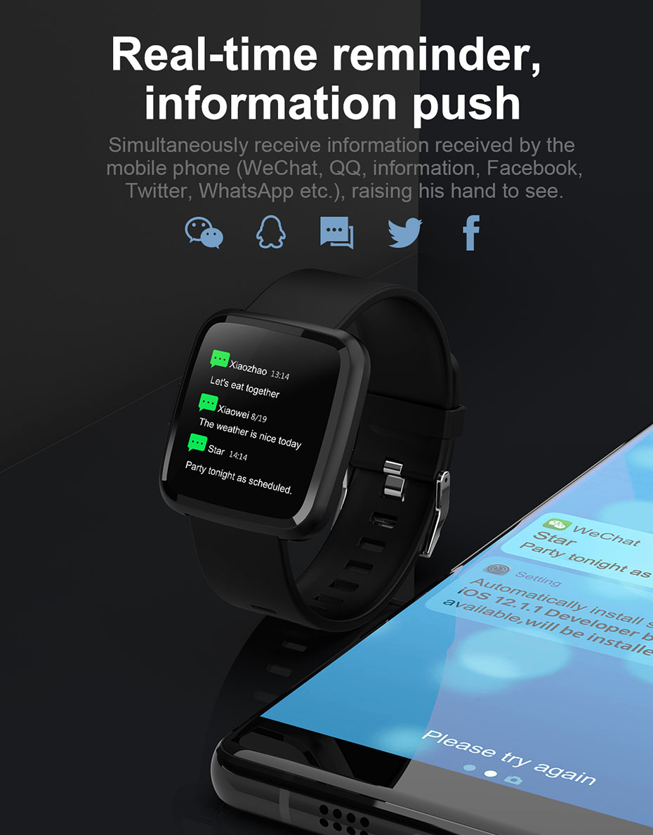 COLMI CY7 PRO Smart watch Full screen touch IP67 waterproof Bluetooth Sport fitness tracker Smartwatch For IOS Android Phone 8