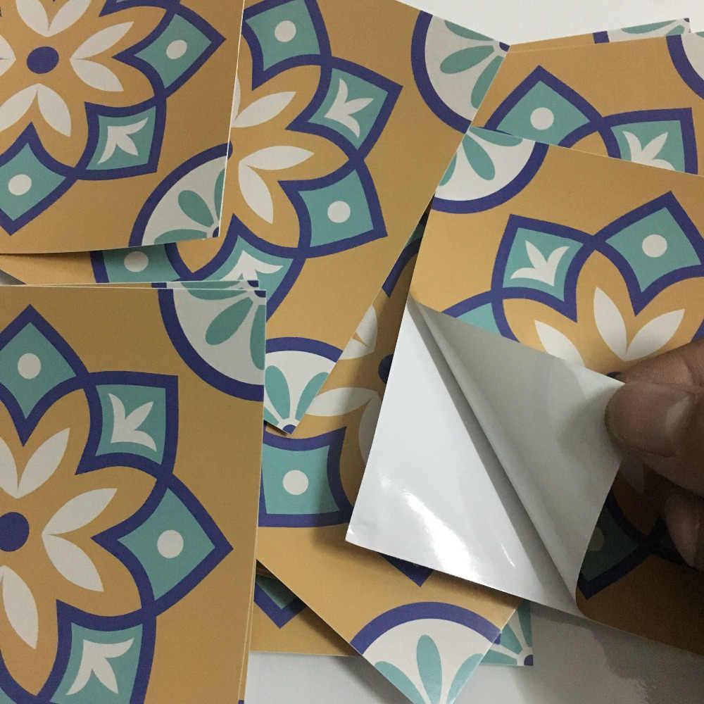15 Buah/Set 8/12/15Cm Gaya Eropa Lantai Ubin Diagonal Stiker Dinding Kamar Mandi Dapur Garis Pinggang Seni mural Vinyl Stiker Dinding