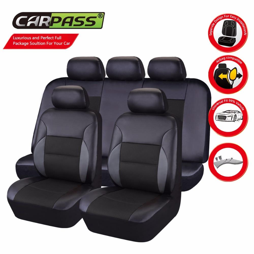 ФОТО Car-pass  Luxury Leather car Seat Cover universal   Seat Covers Leather Seat Covers Universal  For Toyota Mazada Nissan Hyundai