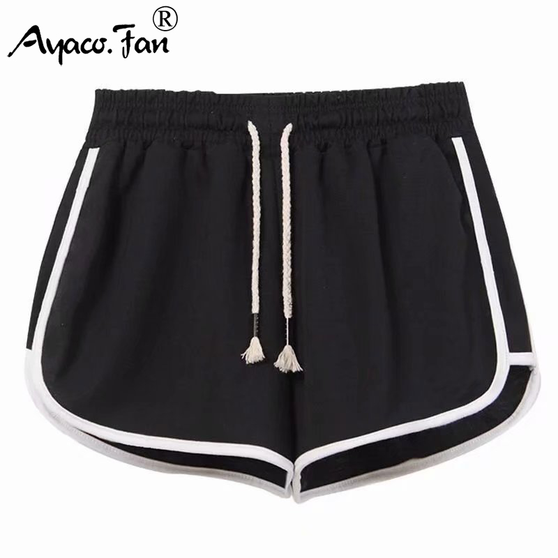 High Elastic Fitness Hot Shorts 2019 Summer New Women Athletic Shorts Cool Girls Ladies Running Short Clothes Jogging Juulshorts