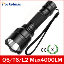 Led Flashlight 4000 Lumens Max L2 T6 Q5 Flashlight Waterproof LED Torch lanterna Camping Hunting lampe de torche ZK93