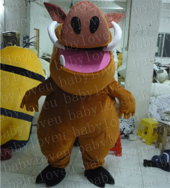 lion king pumba Monster mascot costume custum color halloween costumes party dinosaurs fancy dress christmas gift & lion king pumba Monster mascot costume custum color halloween ...
