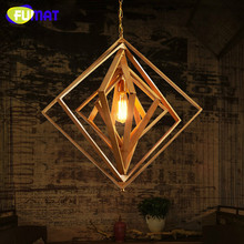 FUMAT Chinese Style Bamboo Pendant Light Dinning Room Aisle Lamp Living Restaurant Study