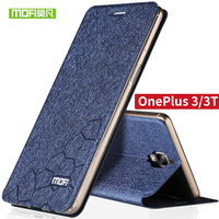 For One Plus 3 3T Cover Case Silicone Flip Luxury Leather Original MOFi Soft Case Fundas