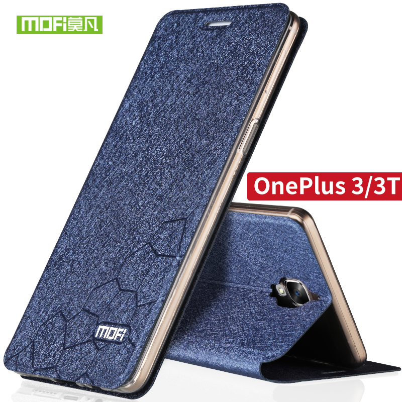 oneplus 3t case flip Leather cases and covers a3000 Mofi original soft silicone back cover oneplus 3 oneplus 3t case TPU fundas