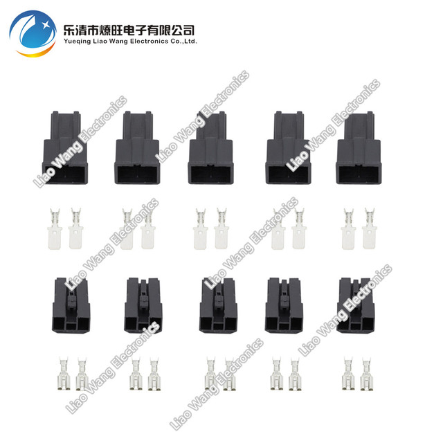 5 Sets 2 Pin Female And Male Auto Toyota Map Sensor Connector ...