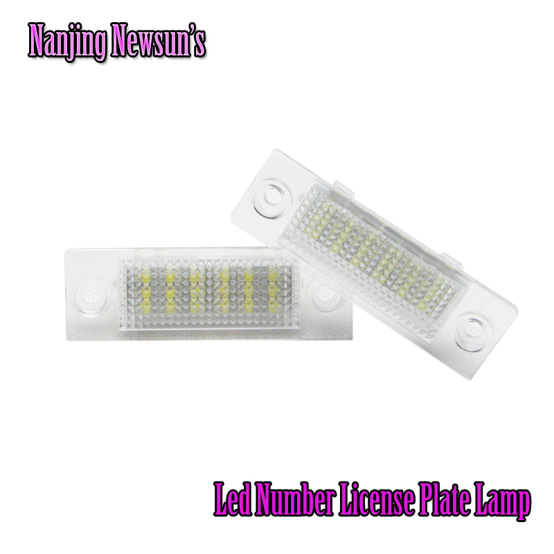 18-Led License Number Plate Light Lamp For VW T5 Caddy Golf Passat Touran Jetta Skoda Plug&Play Car Styling No Error