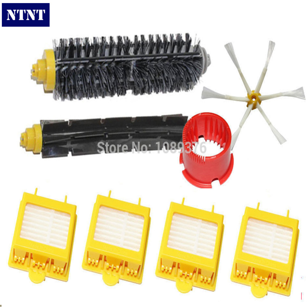 NTNT Free Post New 6-Armed Brush Filters Clean Tool Kit for iRobot Roomba 700 Series 760 770 780 bristle brush flexible beater brush fit for irobot roomba 500 600 700 series 550 650 660 760 770 780 790 vacuum cleaner parts
