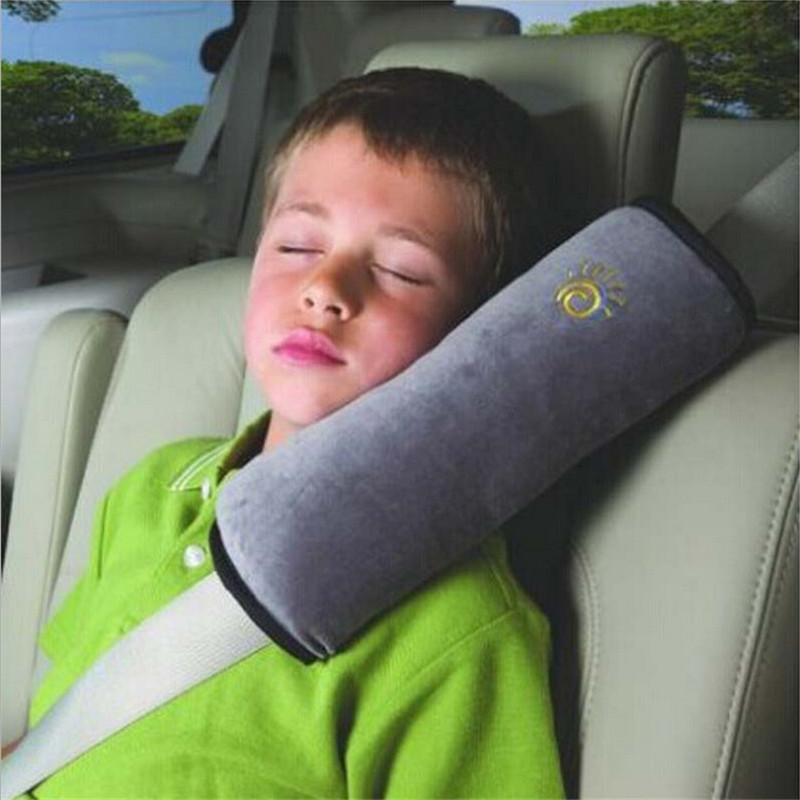 Auto Child Soft Headrest Safety Belt For Cars Shoulder Protection Car-Styling Cinto Pad On The Seat Belt Cover Seat Belts Pillow