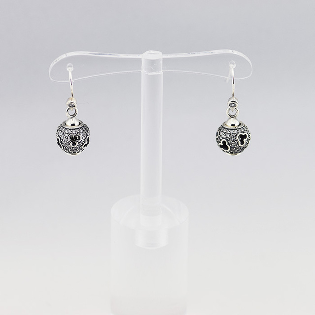 b9a50ed19 925 Sterling Silver Jewelry Mouse Silhouettes Drop Earring with Clear Cubic  Zirconia Free Shipping