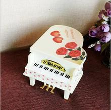 Romantic Girl Spin Dancing Music Box Creative Piano Model Valentine Student Gifts