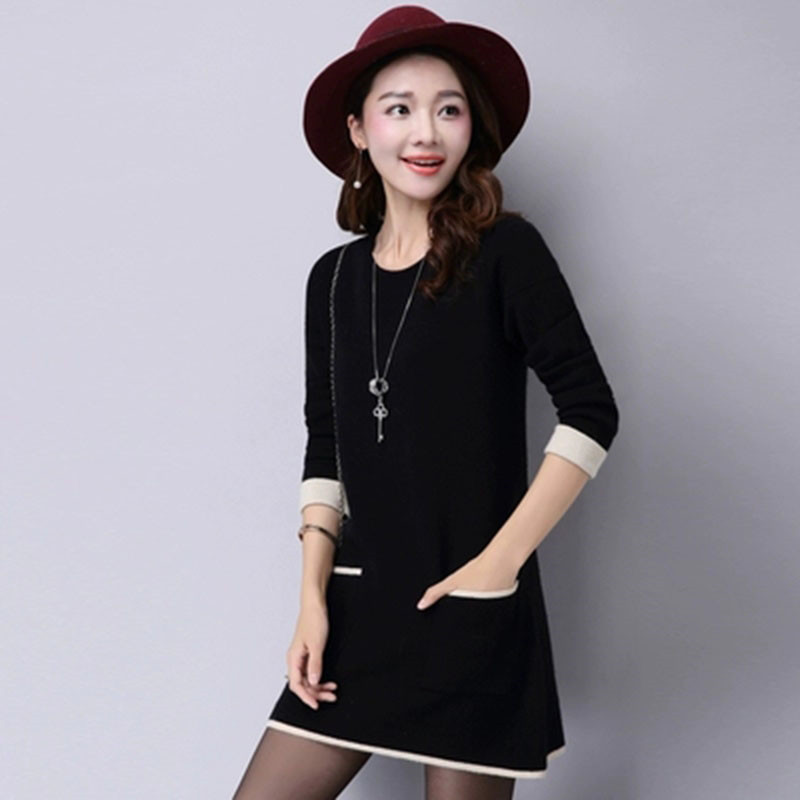 W118 Knitted Long-Sleeve Casual