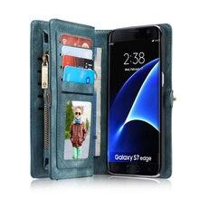 Для Samsung Galaxy S8 S7 Крайние Случаи Оригинальный CaseMe Натуральная Кожа бумажник Чехол Обложка Для Samsung Galaxy S7 Край G9350 S8 Плюс