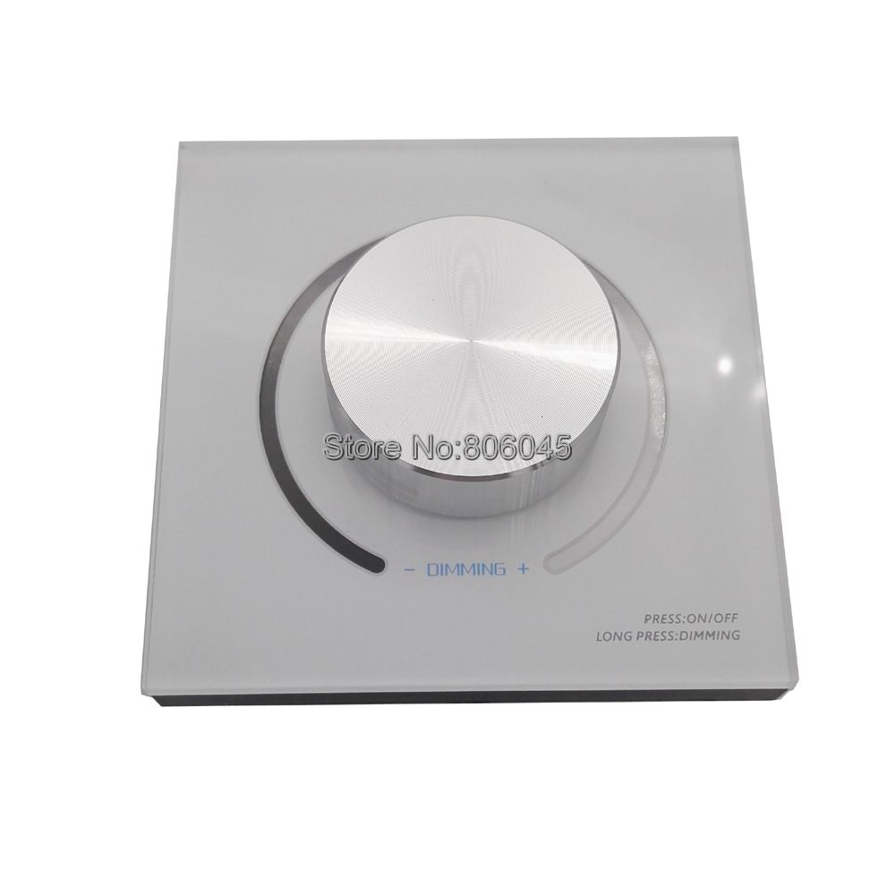 DA6 LED Wall Mount Knob Panel DALI Dimmer Controller On/Off Switch 64 Single Address 16 Group Address and Broadcast Address