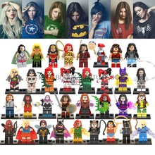 Single Sale Legoing Super Heroes Minifigureds Wonder Woman Superwoman She Hulk Batgirl Harley Quinn Black Widow Building Blocks(China)