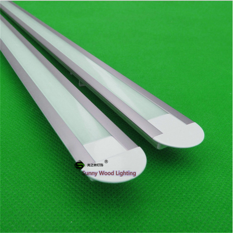 5-30pcs/lot ,1m long led aluminium profile ,aluminium profile for LED strip 5050 10-12mm pcb ,led bar light housing CC-2207 5 30pcs lot 40 inch 1m 45 degree corner aluminum profile for 5050 led strip milky transparent cover for 12mm pcb with fittings