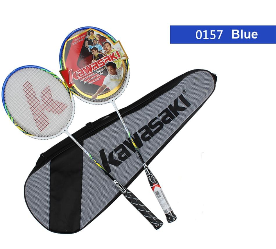 Schlägersportarten SchöN 2 Stücke Kawasaki Badminton Schläger Badminton Schläger Mit Tasche Raquette De Badminton Mit Badminton String Schläger Tasche Raquete Schrumpffrei