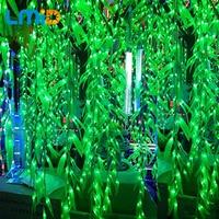 120LEDS 4m 0 6m Artificial Salix Leaf Vine Curtain For Home Garden Supermarket Luminaries Decoration Christmas