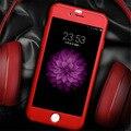 Luxo 360 graus de proteção full body caso capa para o iphone 6 6 s plus com vidro temperado para o iphone 6 s plus caso capa coque