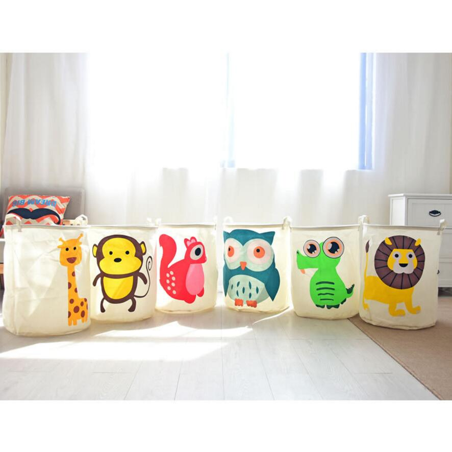 40*50CM Laundry Hamper Cartoon Animal Lovely Clothes Storage Baskets Home  Clothes Barrel Bags Kids