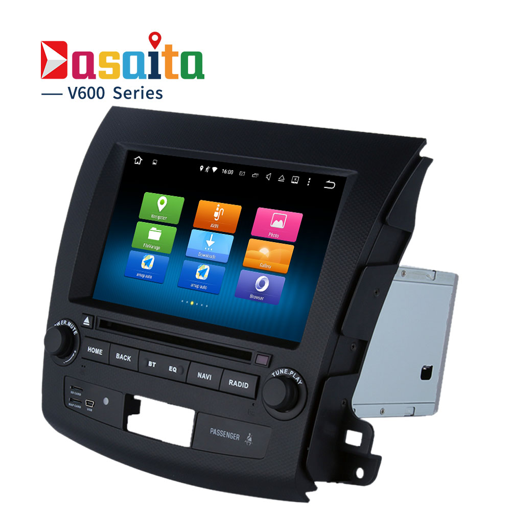 Quad core 2 din Android 5 1 Car DVD player for Mitsubishi Outlander car radio CPU
