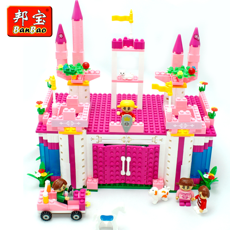 Genuine Girl Child Educational Toys Birthday Gift Small Particles Of Plastic Building Blocks Assembled