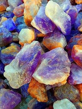 11LB South Africa!!!Natural quartz crystal violet gravel...Small violet stones