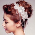 2017 new fashion beaded belt and Pearl Wedding Decoration Hair Barrette XH156