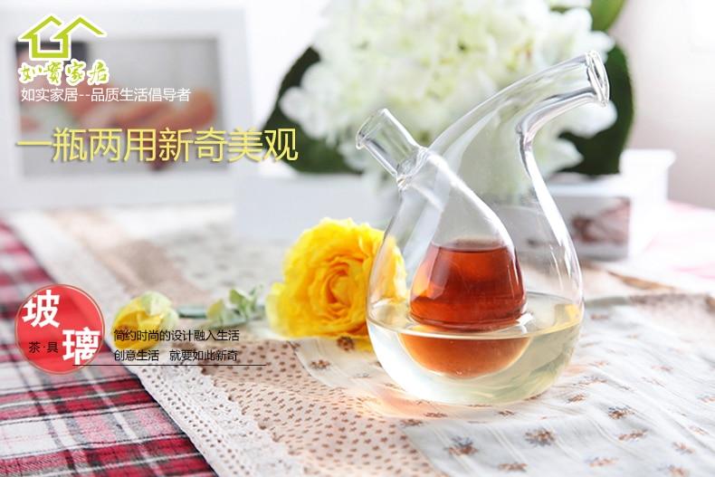 Mehrzweck Große Küche Gewürz Öl Flasche Grün Glas Öler Kann Öl - Home Storage und Organisation - Foto 4