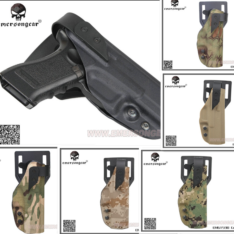 EMERSON Tactical XST Standard Style Holsters Pistol Paddle & Belt Holster  Replacement For GLOCK BLACK DE MC AOR1 MR AOR2 AT/FG