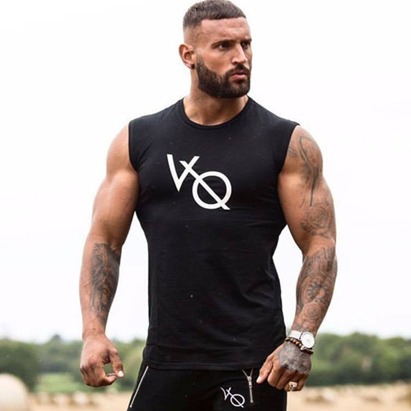Men Bodybuilding Cotton   Tank     Tops   Man Casual Fashion Sleeveless shirt Sling Vest Summer Male Gyms Fitness Workout Brand Clothing