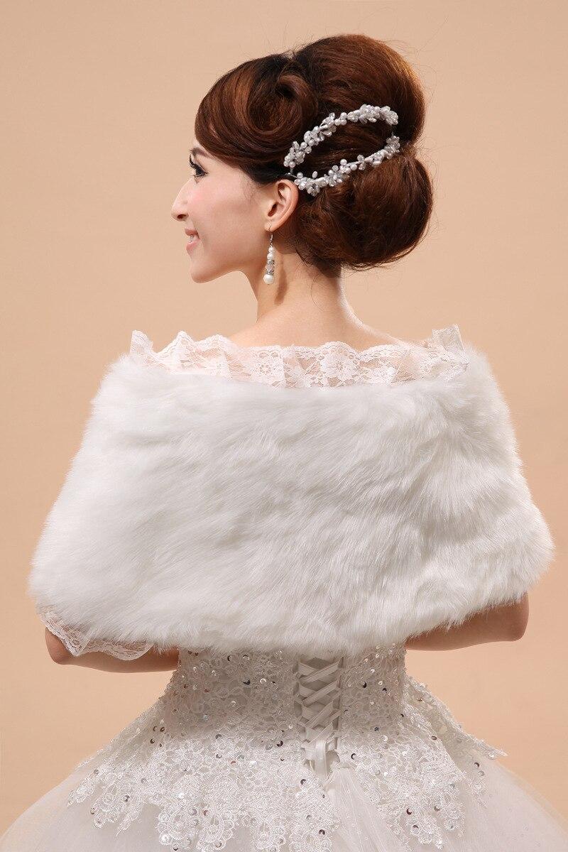 Image 3 - Vêtements dextérieur de mariage mariée châle robe formelle accessoires mariée Cape automne hiver veste vente chaudeVestes et châles mariage   -