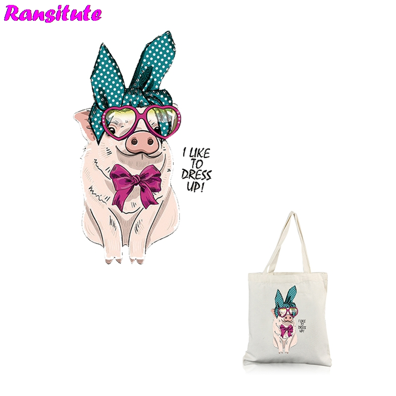 Ransitute R311 Pig Series 2 Patch DIY Clothing Printing T-shirt Thermal Transfer Washable Heat Transfer