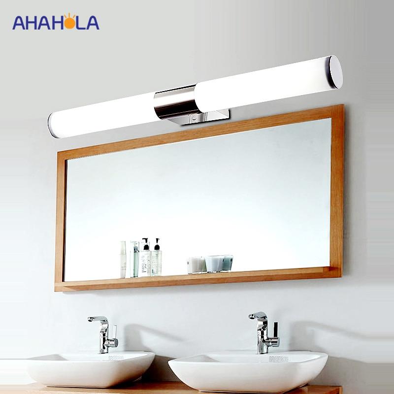 Modern Wall Lamp Bedroom Stainless Steel Led Mirror Light ... on Led Sconce Lighting id=83820