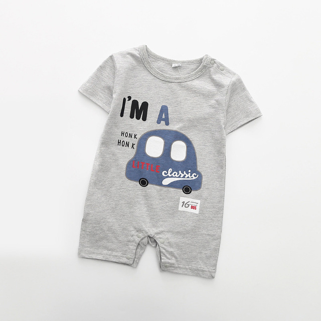 c278e88ca976 Summer Cute dinosaur printed Baby Rompers Cotton Baby Girls Clothes Boys 3  6 9 12 Months Infant Jumpsuit Clothing For Baby-in Rompers from Mother    Kids on ...