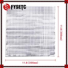 1 PC 300*300*10mm Isı Yalıtım Pamuk Folyo Kendinden yapışkanlı Yalıtım Pamuk Creality Için cr-10 3D Yazıcı Isıtma Yatak Sticker