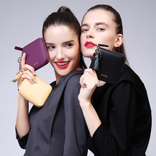 ZOOLER famous brand leather women wallet 2016 solid lady wallets long clutches card holder purses Luxury Limited quantity#11016