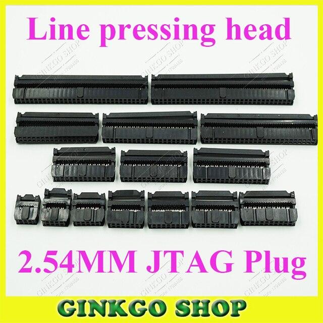2.54mm pas FC-6/8/10/12/14/16/20/24/26/30/34/40/50/60/64 broches IDC ligne connecteur de prise de pression /fiche JTAG du connecteur fai