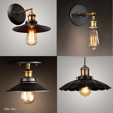Lámpara de techo Edison moderna, lámpara de hierro para dormitorio estilo europeo del Norte, lámpara de iluminación de bar, luces de techo negras
