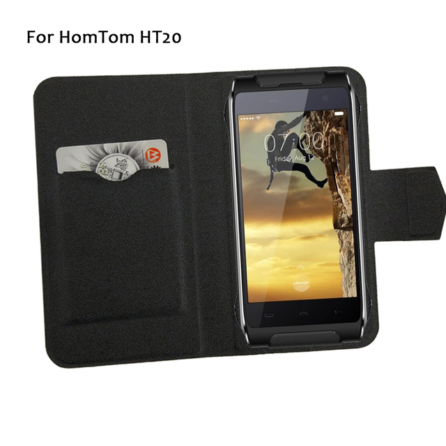 5 Colors Super! HomTom HT20 Phone Case Leather Flip Phone Cover,2017 High Quality Fashion Luxurious Phone Accessories