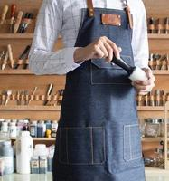 Hot selling Denim aprons Korean fashion men and women coffee shop package mail restaurant kitchen qty144