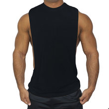Brand Men's Cotton Muslce Vest Tank Tops Bodybuilding Fitness Men Cotton Singlets Plus size O-Neck T Shirt Male Gasp Sleeveless