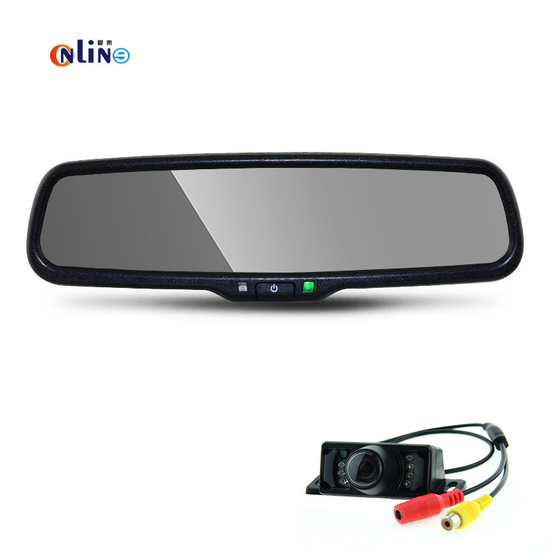 vehicle electronics 800*480 HD Auto Dimming Mirror Rearview Mirror Monitor with Original Bracket  with LED parking assist camera